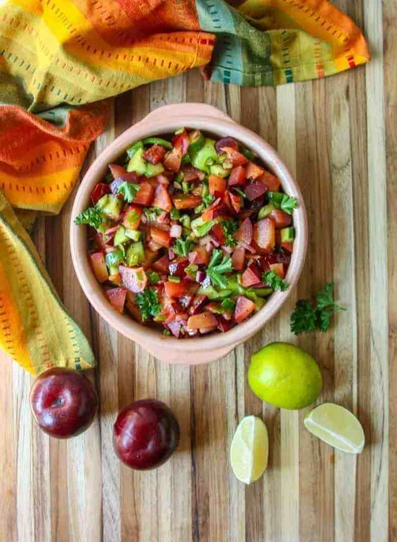 Fresh Plum Salsa with Lime