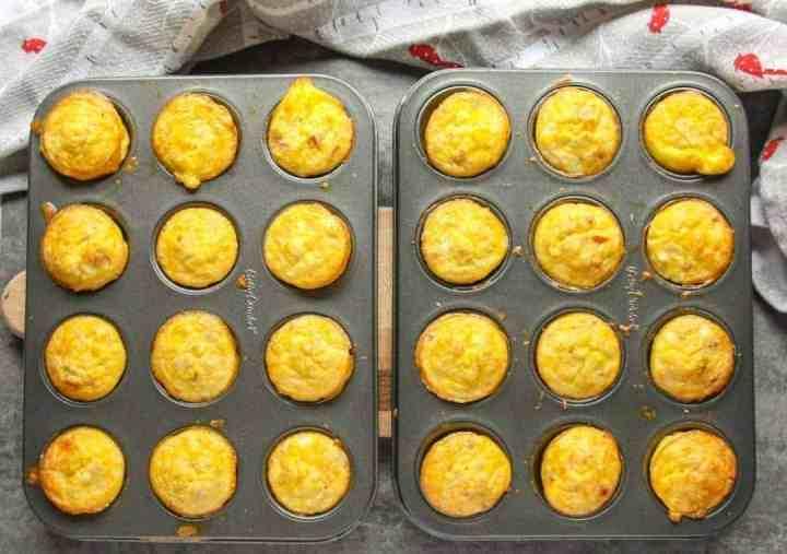 Mini Quiche Appetizers in mini muffin tins