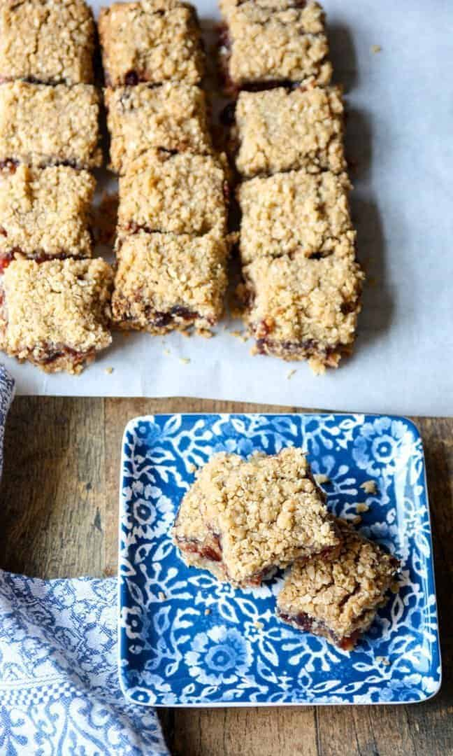 Cranberry date squares