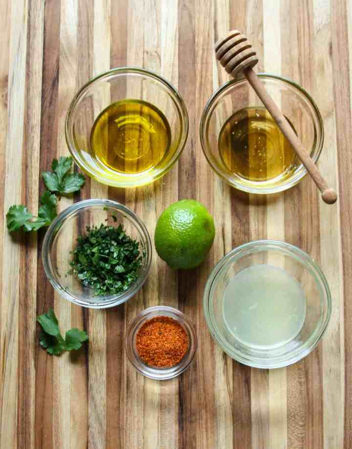 Ingredients to Make Chili Lime Dressing