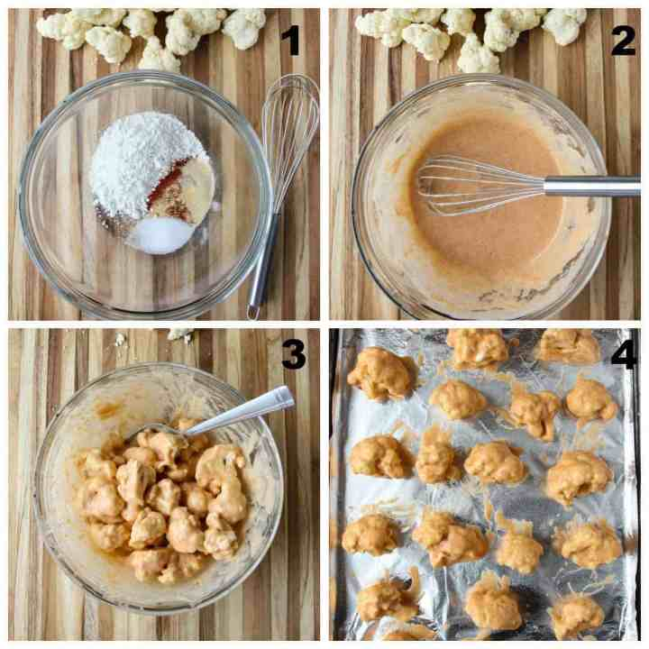 Steps one through four to make this recipe.