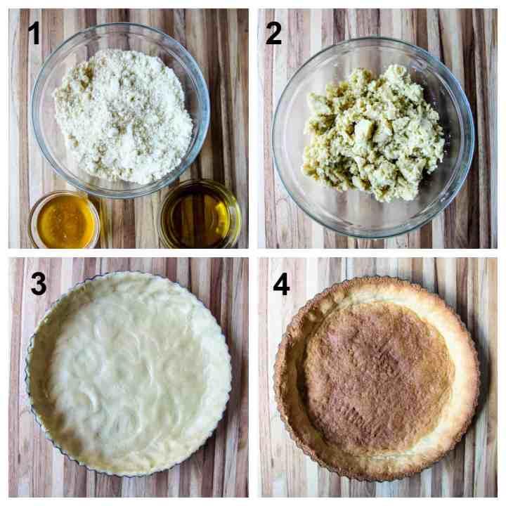 Steps for making the tart shell.