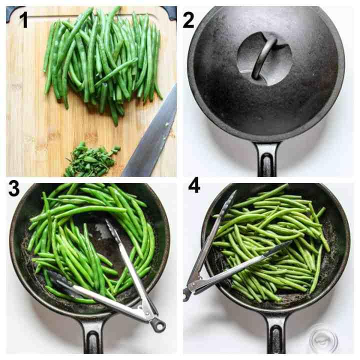 Steps one through four to make the recipe.