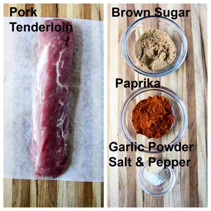 The ingredients for making this recipe.