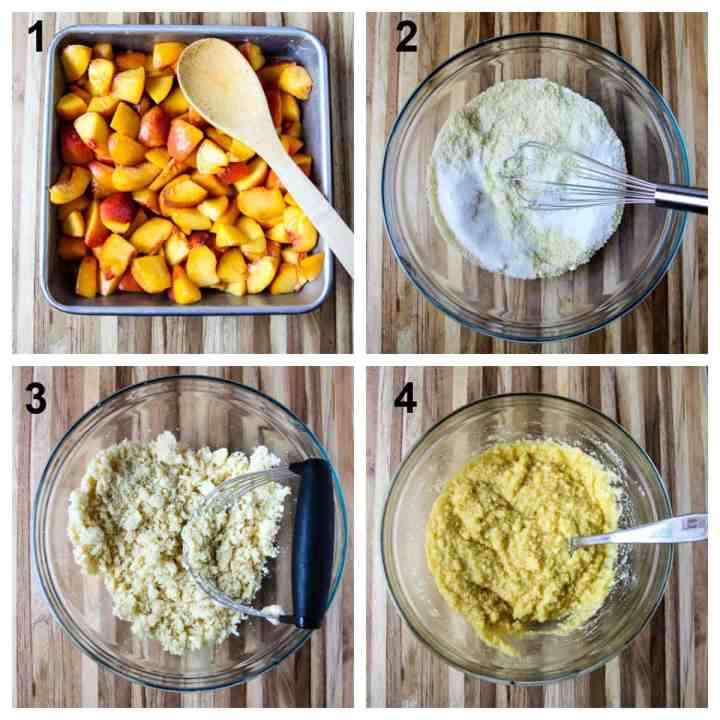 The first four steps to make the recipe.