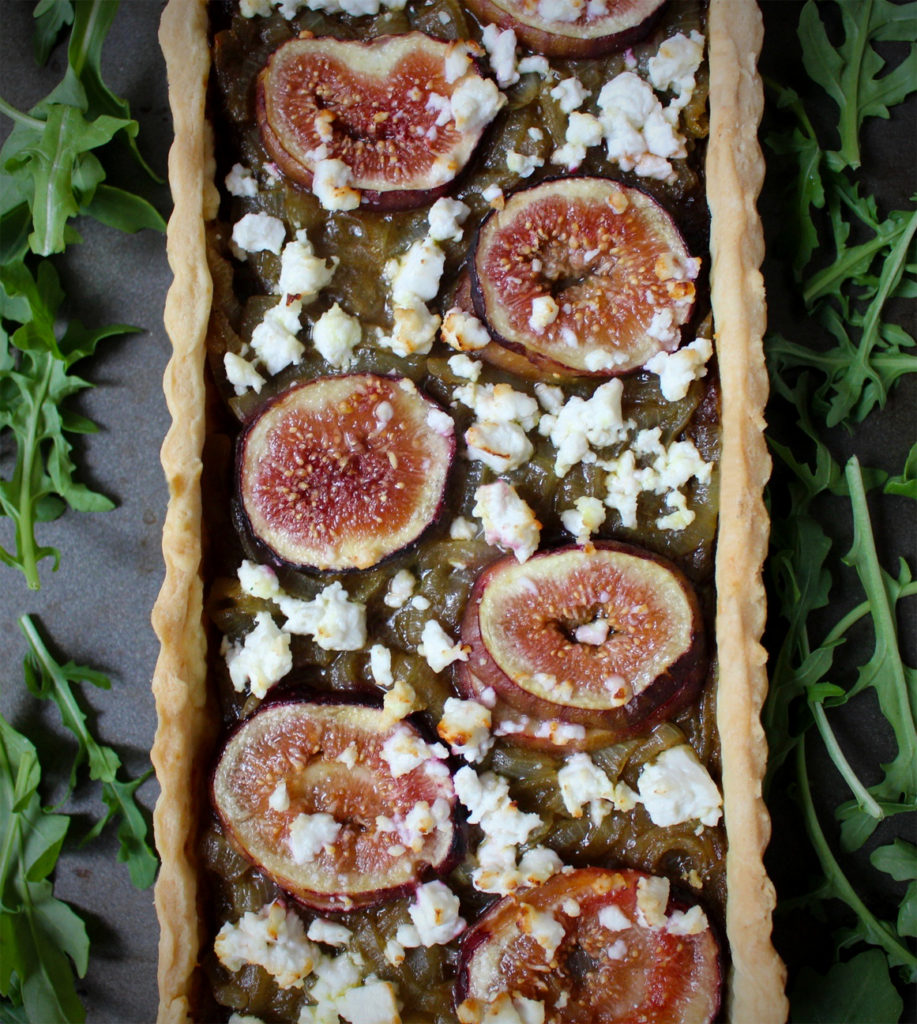 Onion, Fig and Feta Savory Tart - The Foodie Journey