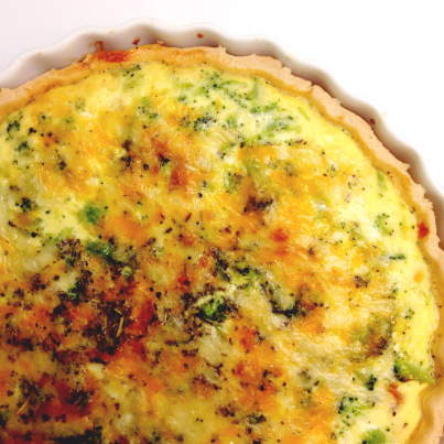 Sausage, Broccoli & Cheddar Quiche