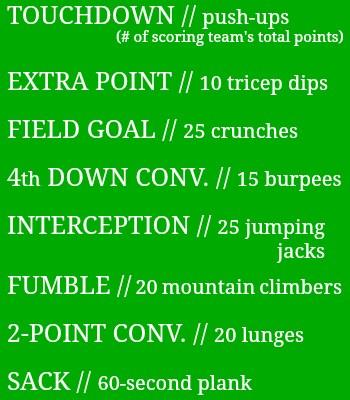Superbowl 50 Workout