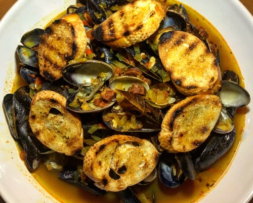 *Recipe* Chorizo and Saffron Mussels & Clams