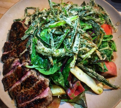 Belching Beaver steak salad