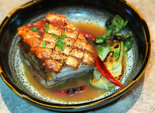 Crispy Pork Belly recipe, Orange Soy braised