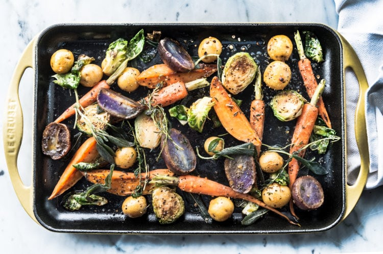 Manny Rodriguez food beverage photography, commercial food, food photography, advertising, restaurant, editorial, cookbooks, cook books, table top, dining, prop styling, roasted veggies, carrots, subzero, wolf ranges