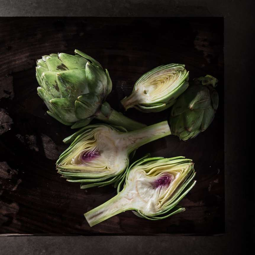 Manny Rodriguez Still Life Photography, commercial food, food photography, advertising, restaurant, editorial, cookbooks, cook book, artichokes