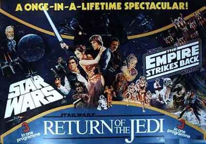 Star Wars Trilogy British Quad