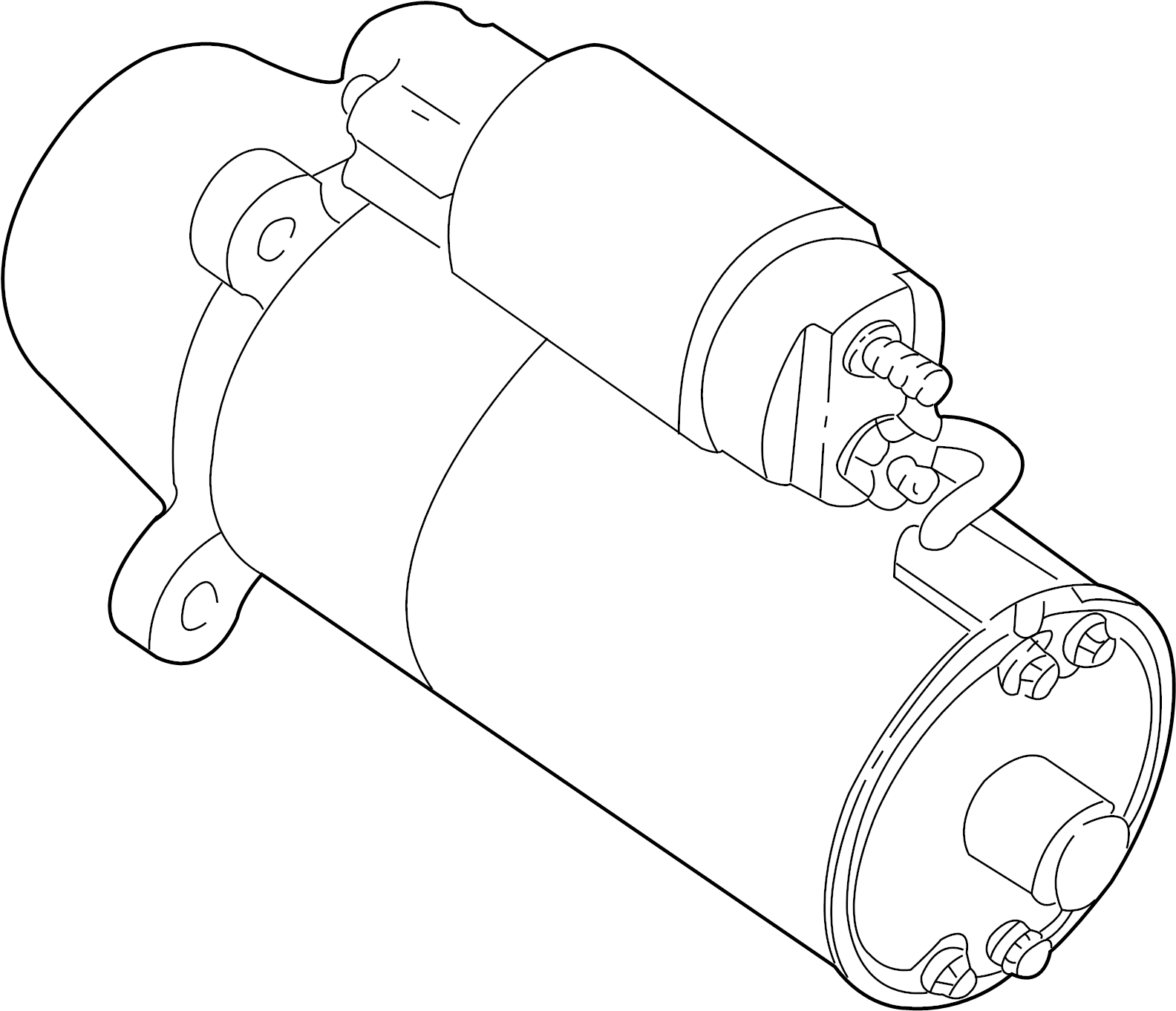 Mercury Sable Starter Motor