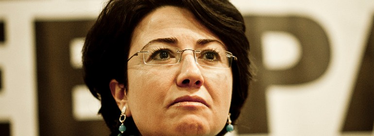 Haneen Zoabi at the World Social Forum Free Palestine in Brazil earlier this year.