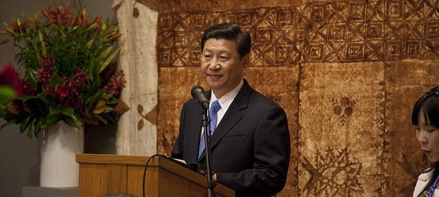 Xi Jinping addresses an audience in New Zealand in 2010. He was still the Vice Presidnet at the time.