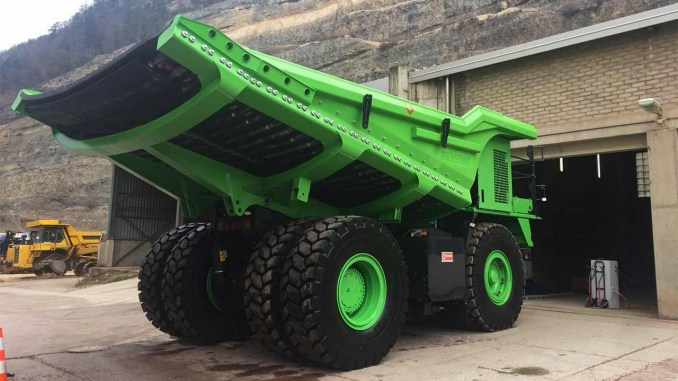 Giant dump truck could be greenest vehicle on the planet