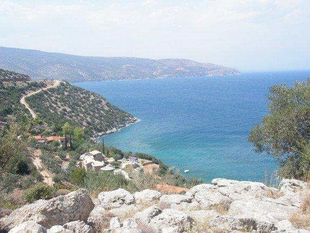 Peloponnese coast line