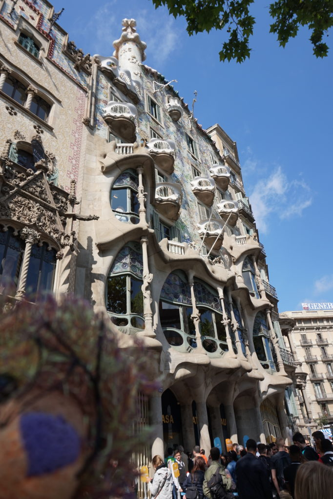 Guadi building in Barcelona