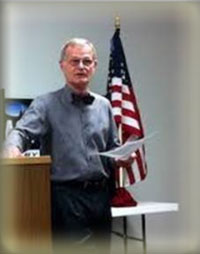 Bill Warner with American Flag