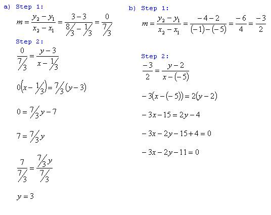 Freemathtutoring Derive A Straight Line Equation Answers