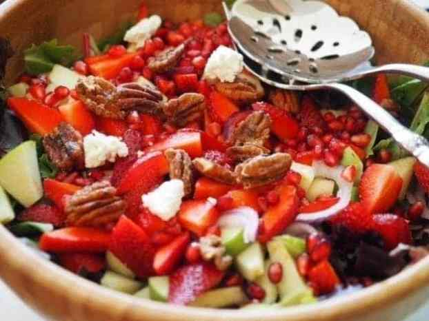 Bowl of Sweet Apple Maple Salad | www.thefreshcooky.com