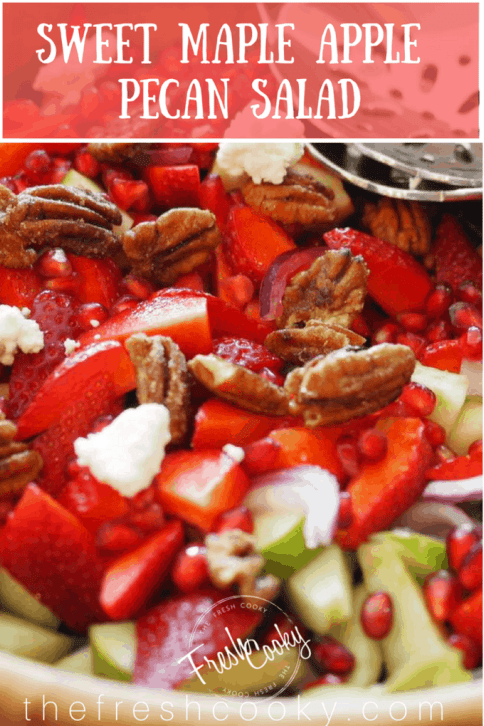 Sweet Maple Apple Pecan Salad | www.thefreshcooky.com #springsalad #fresh #mothersday #brunch #easter
