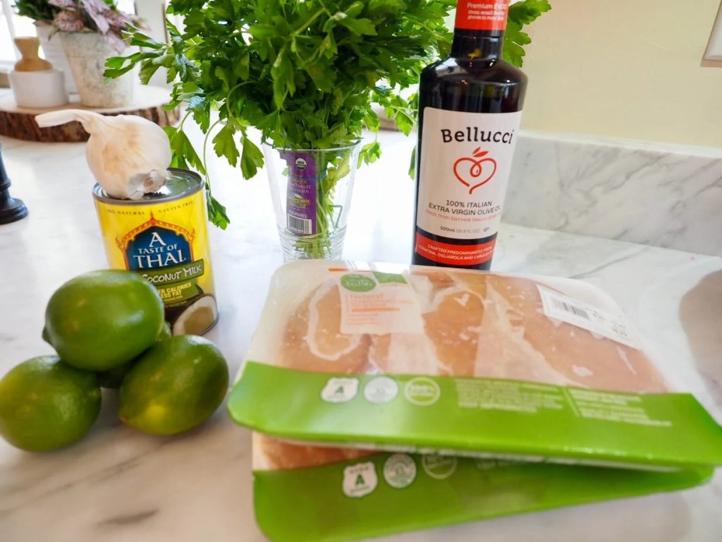 ingredients for coconut lime chicken   www.thefreshcooky.com