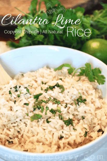 Cilantro Lime Rice   www.thefreshcooky.com