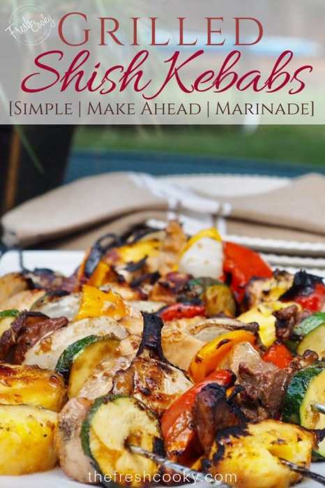 Shish Kebabs  on a plate | www.thefreshcooky.com