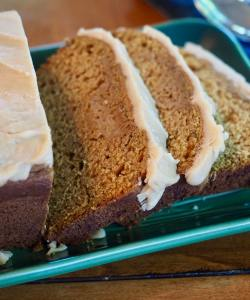 Pumpkin Bread with Browned Butter Maple Glaze
