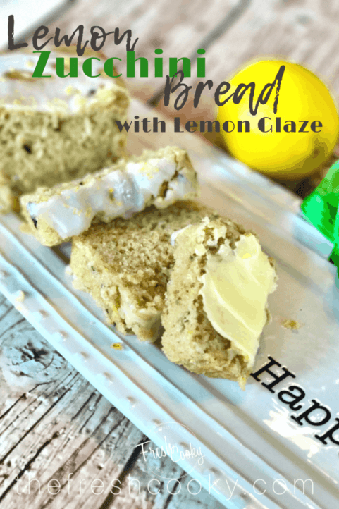 The perfect way to use all of your zucchini, in this moist delicious quick bread! #lemon #zucchinibread #quickbread #thefreshcooky #neighborgifts