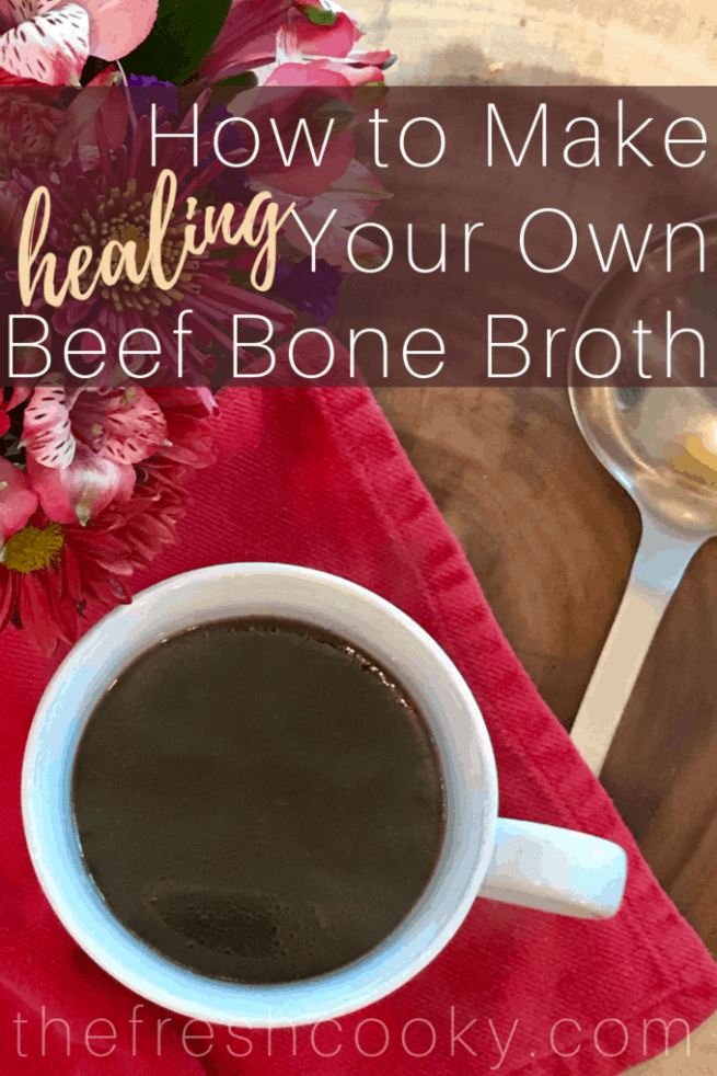 4 Reasons for you to drink Bone Broth! Click through for how to make this gut healing, joint improving, immune boosting miracle broth! #thefreshcooky #bonebroth #beef #guthealth #howto #broth