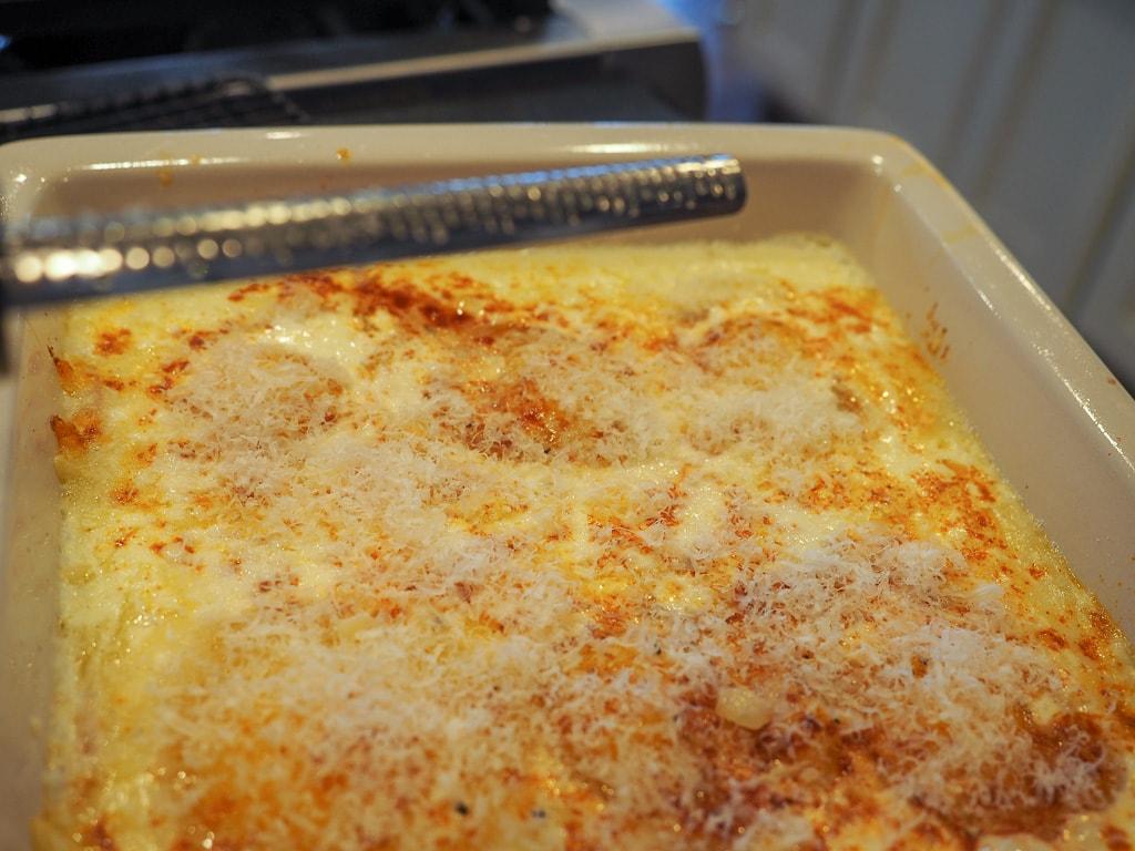 grated parmesan on Mock Eggs Benedict | www.thefreshcooky.com #mockeggsbenedict #eggdish #eggsbenedict