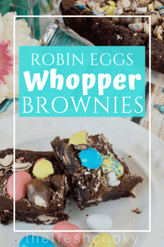 Robin Eggs Whopper Brownies | www.thefreshcooky.com