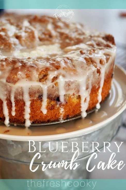Blueberry Crumb Cake   www.thefreshcooky.com