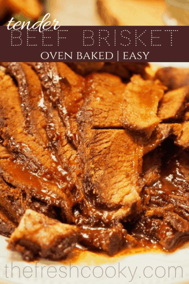 Oven Baked Barbecue Beef Brisket | www.thefreshcooky.com