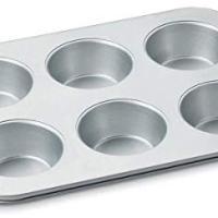 Cuisinart AMB-6JMP Chef's Classic Nonstick Bakeware 6-Cup Jumbo Muffin Pan, Silver
