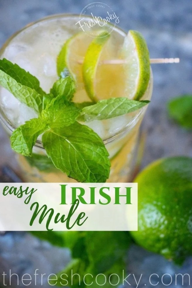 Irish Whiskey Mule with limes | www.thefreshcooky.com