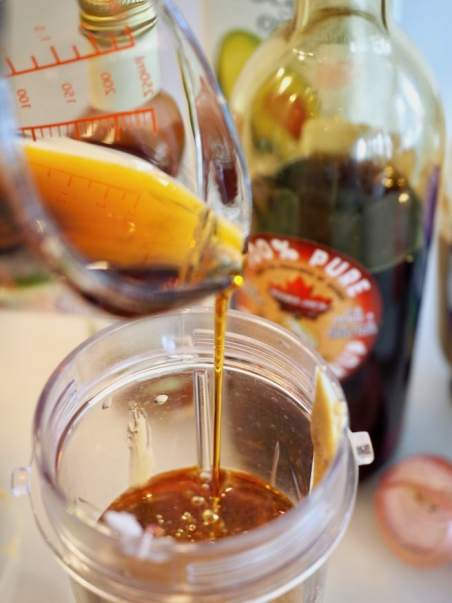 pouring in maple syrup | www.thefreshcooky.com