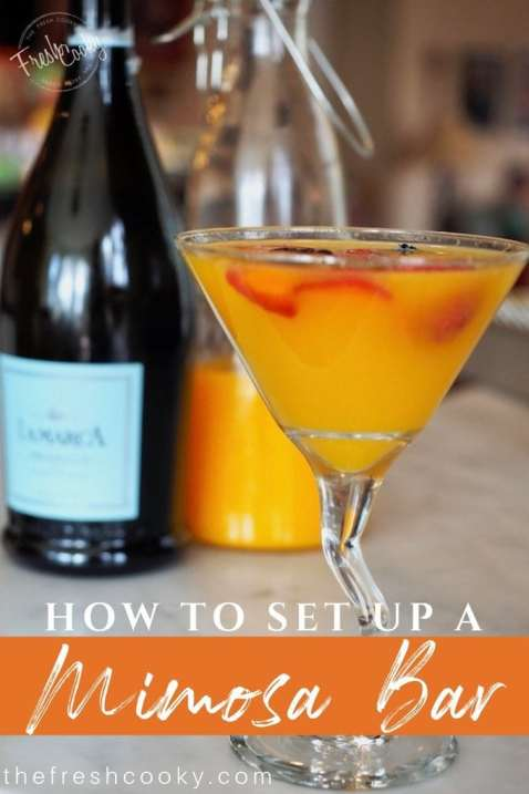 How to set up a Mimosa Bar | www.thefreshcooky.com