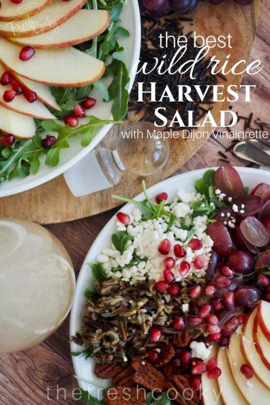 Harvest Wild Rice Salad   www.thefreshcooky.com