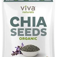 Viva Naturals - The FINEST Raw Organic Chia Seeds, 2 lb Bag