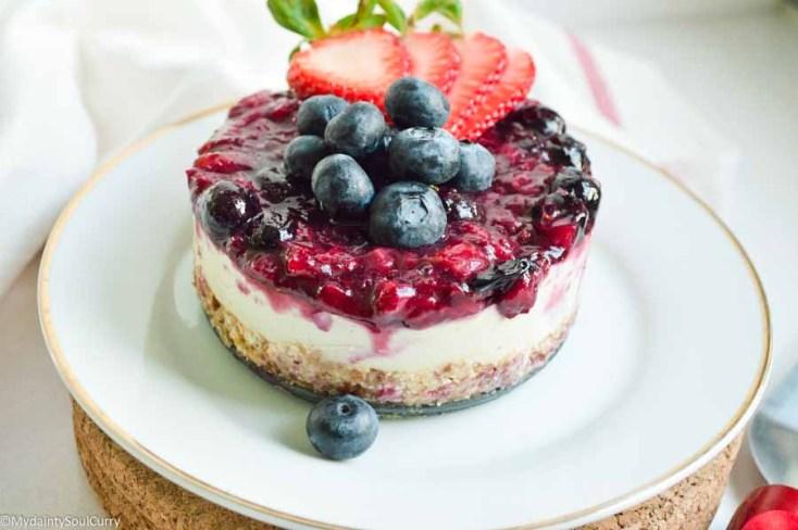 4th of July Vegan Cheesecake