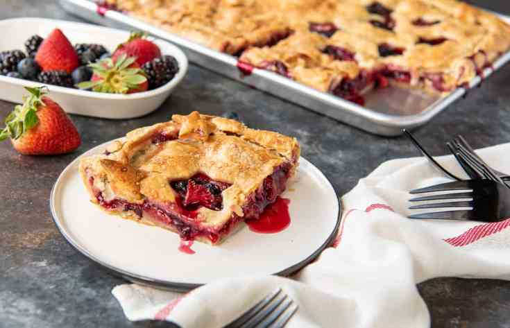 Triple Berry Slab Pie