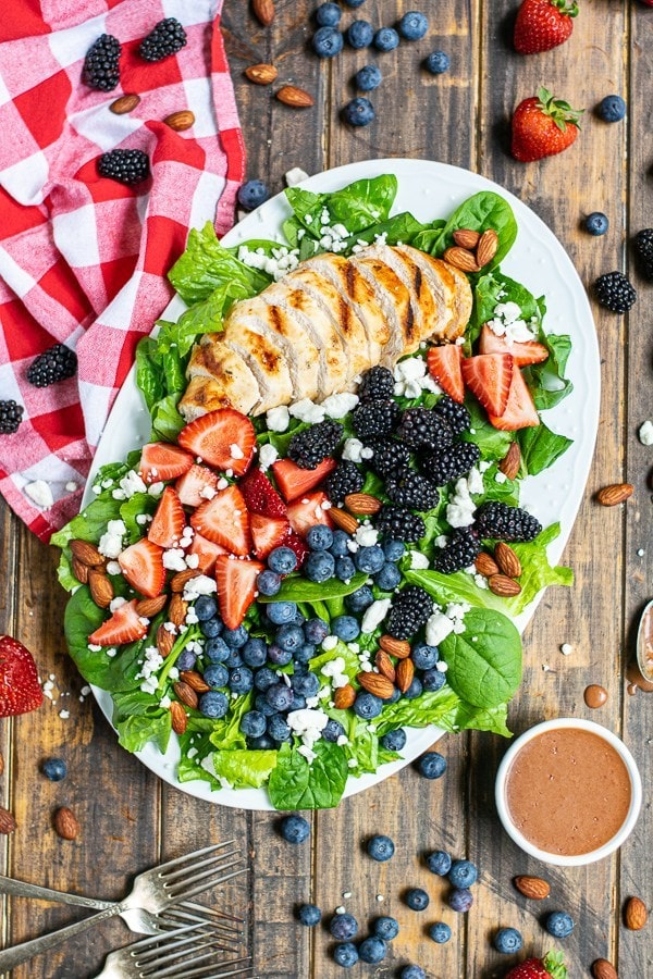 Summer Berry Salad a Perfect Summer Grilled Chicken Salad Recipe