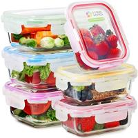 Glass Food Storage Containers with Lids - 6 Pack, 2 Sizes (35 Oz, 12 Oz)