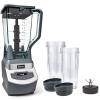 Ninja Professional Countertop Blender with 1100-Watt Base, 72oz Total Crushing Pitcher and (2) 16oz Cups for Frozen Drinks and Smoothies (BL660)