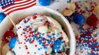 """Patriotic """"No Churn""""  Ice Cream"""